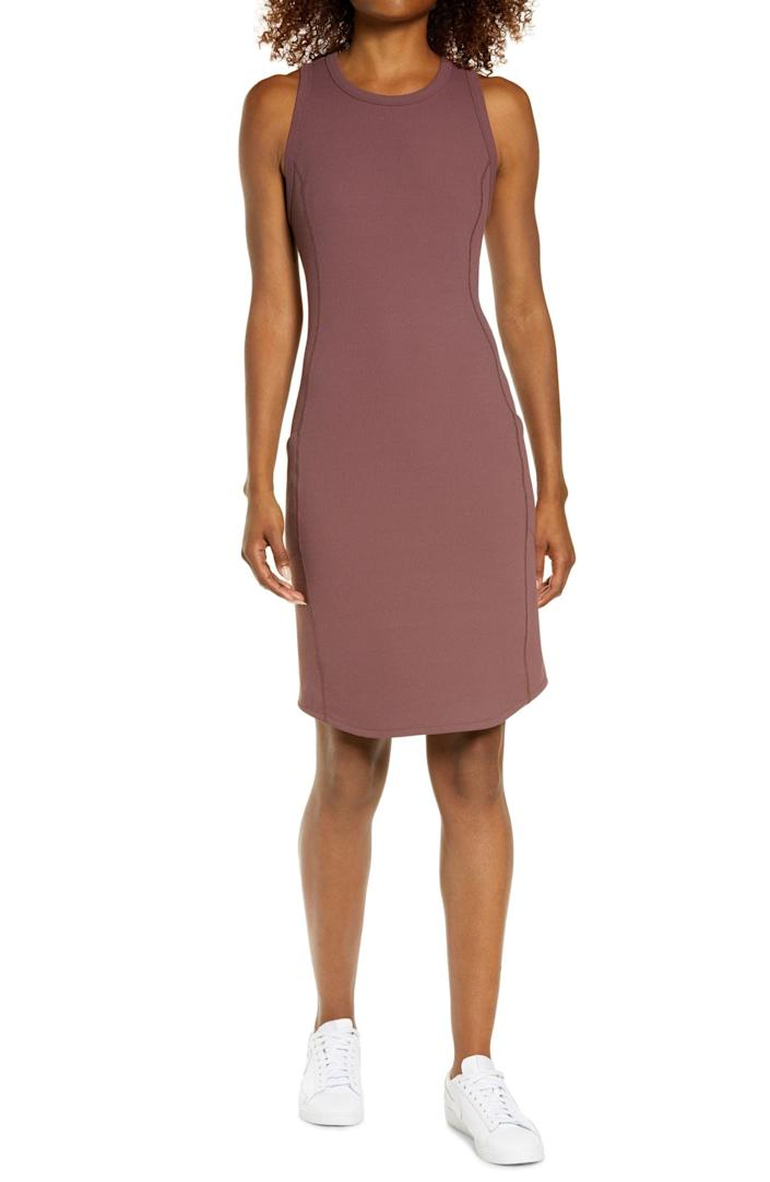 <p>You will want to wear this easy <span>Zella Live In Rib Pocket Dress</span> ($69) every single day.</p>