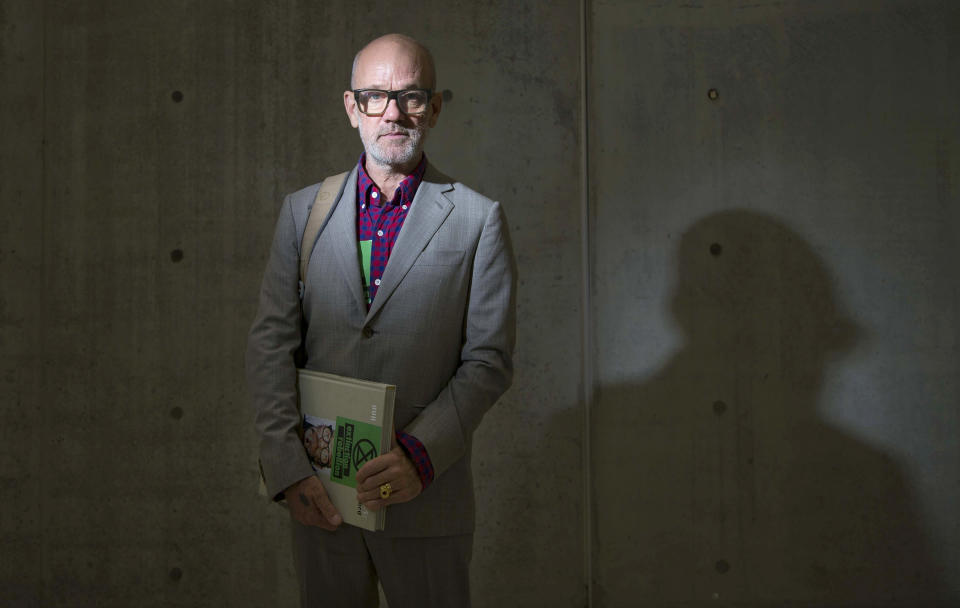 """FILE - Composer and singer Michael Stipe poses for portraits during the presentation of his photography book """"Our Interference Times: a visual record"""" on Oct. 8, 2019, in Rome. Stipe turns 61 on Jan. 4. (AP Photo/Domenico Stinellis, File)"""