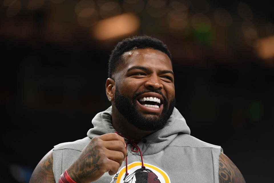 The San Francisco 49ers acquired offensive tackle Trent Williams from the Washington Redskins on Saturday, the clearest indication they're ready for another Super Bowl run. (Photo by Toni L. Sandys/The Washington Post via Getty Images)