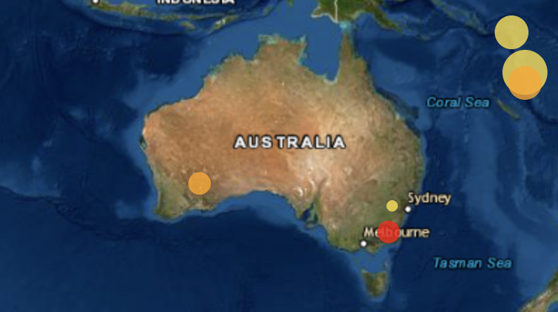 The earthquake hit Jindabyne in NSW's south. Source: Geoscience