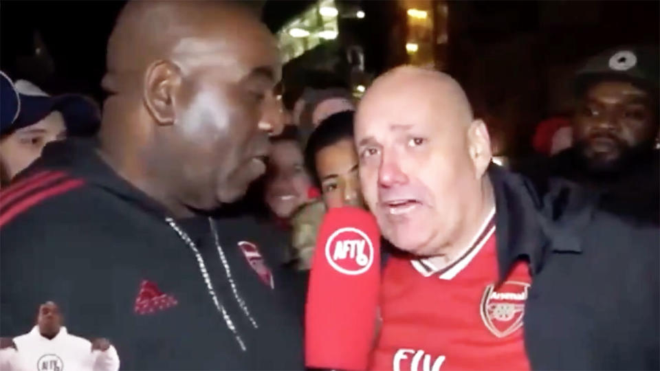 Claude Callegari, pictured here on Arsenal Fan TV.
