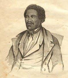 An illustration of Henry 'Box' Brown.
