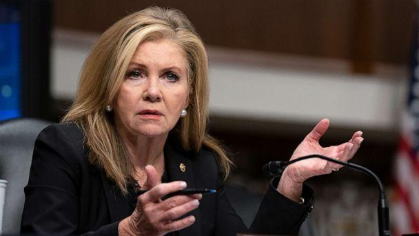PHOTO: Sen. Marsha Blackburn speaks during a Senate Judiciary Committee hearing on Sept. 30, 2020 on Capitol Hill in Washington, D.C. (Stefani Reynolds/Getty Images, FILE)