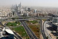 FILE PHOTO: General view of Riyadh city, after the Saudi government eased a curfew, following the outbreak of the coronavirus disease (COVID-19), in Riyadh