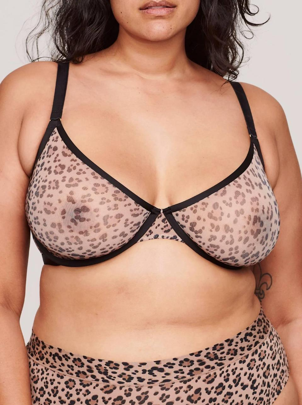 "<p><strong>Key selling points:</strong> Even though it's lightweight and made of mesh, this bra is supportive, secure, and not to mention, stylish, as it comes in nine colors, including leopard print, the ultimate ""neutral."" Plus, it goes up to H cup in sizing.</p> <p><strong>What customers say:</strong> ""Oh my god, these bras...heaven-sent. The leopard mesh is to die for and is so sexy, but fits like a REAL BRA. I always hate wearing bras but this one hits different. I love you Cuup."" — <em>Isabella, reviewer on</em> <a href=""https://cna.st/affiliate-link/21ph1kqPR7kvazrQjGKzdMGXk4oiy6DCW8xMRhhSgCTSrMmybVdA6RJDtKMNb5iJ5o2sEYNw9UqAa3ziXHuSgpTxmLAqKuDuMAXDnCQtR9uVwFbVXRTmo5bbRbrzAjBRTkc5meW88N6bXU4D?cid=606b5b28bb9c80023a579407"" rel=""nofollow noopener"" target=""_blank"" data-ylk=""slk:Cuup"" class=""link rapid-noclick-resp""><em>Cuup</em></a></p> $68, Cuup. <a href=""https://shopcuup.com/products/the-plunge-mesh-leopard?"" rel=""nofollow noopener"" target=""_blank"" data-ylk=""slk:Get it now!"" class=""link rapid-noclick-resp"">Get it now!</a>"