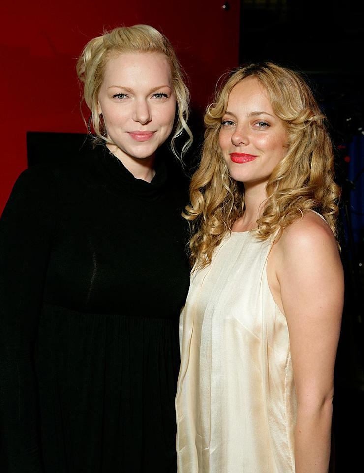 """Laura Prepon and Bijou Phillips catch up at the New York Rescue Workers Detoxification Project charity event held at the Geisha House in Hollywood. Todd Williamson/<a href=""""http://www.wireimage.com"""" target=""""new"""">WireImage.com</a> - March 27, 2008"""
