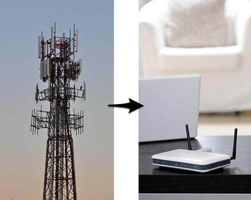 Cellphone tower and wireless router