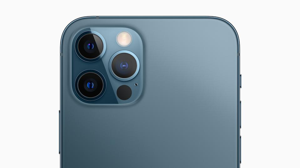 The pro camera system on iPhone 12 Pro models includes new Wide cameras for even better low-light performance, an expansive Ultra Wide camera, and a Telephoto camera for capturing stunning images and video. (PHOTO: Apple)