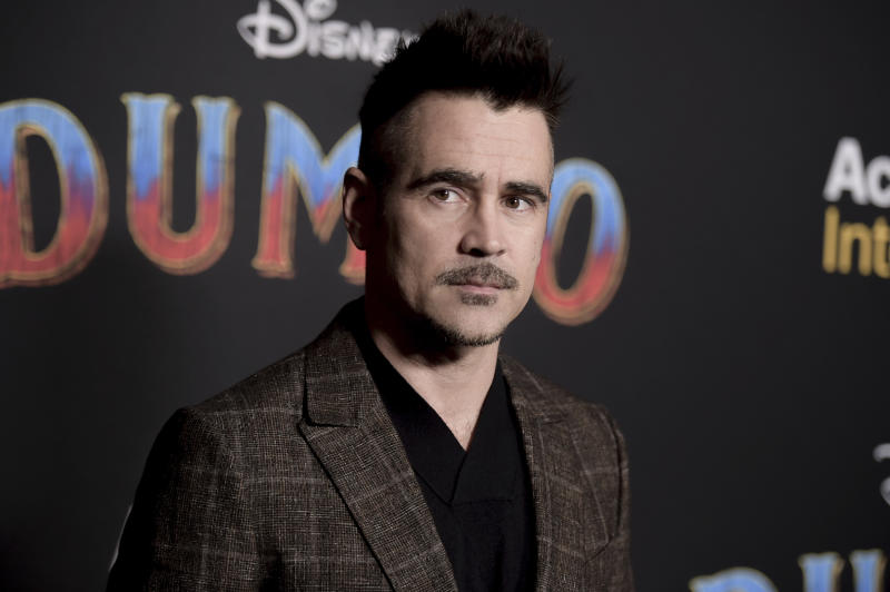 "Colin Farrell attends the LA premiere of ""Dumbo"" at the Dolby Theatre on Monday, March 11, 2019, in Los Angeles. (Photo by Richard Shotwell/Invision/AP)"