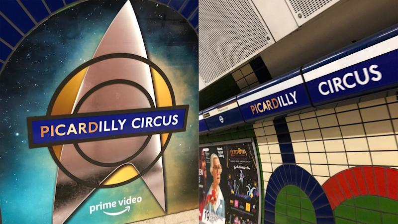 Star Trek takes over Piccadilly Circus to promote new series