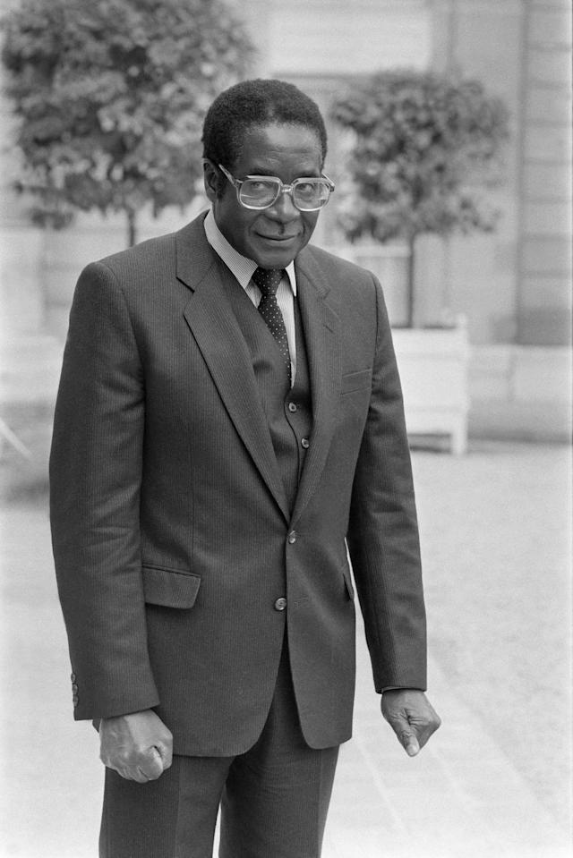 <p>Mugabe at the Elysee Palace in Paris in May 1982. (Photo: Laurent Maous/Gamma-Rapho via Getty Images) </p>
