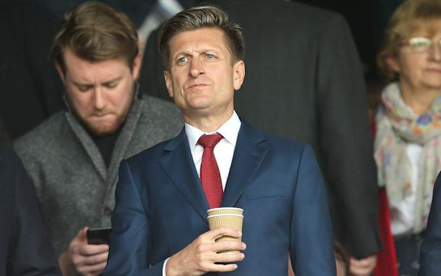 Steve Parish, theCrystal Palace chairman, is hoping clubs can benefit fromBrexit - Rex Features
