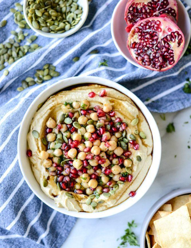 """<p>Raise your hand if you want to eat this hummus before the main course. </p><p><a href=""""http://www.howsweeteats.com/2015/10/roasted-butternut-squash-hummus/"""" rel=""""nofollow noopener"""" target=""""_blank"""" data-ylk=""""slk:Get the recipe from How Sweet It Is »"""" class=""""link rapid-noclick-resp""""><em>Get the recipe from How Sweet It Is »</em></a></p>"""