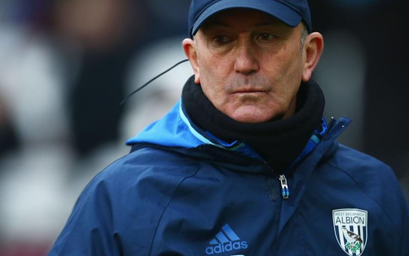 Tony Pulis, the West Bromwich Albion manager, has not once been relegated in his four decades as a player, coach or boss - 2017 Getty Images