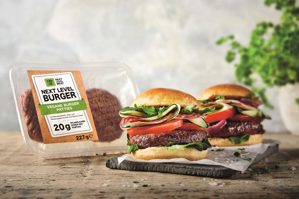 "This is not a Beyond Burger. German discount grocer Lidl launched its ""Next Level Burger"" after Beyond Meat couldn't keep up with the incredible demand. (Lidl)"