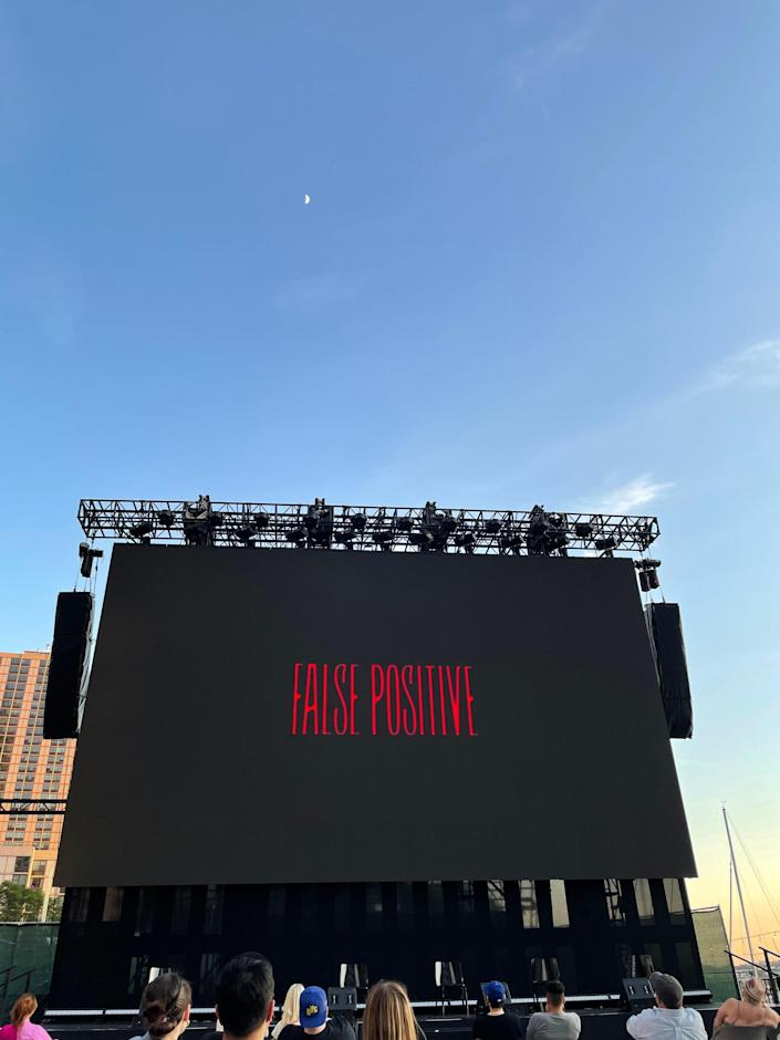 A pandemic premiere. Outside — safely thanks to vaccines and our incredible public health officials and frontline workers — set to the backdrop of a sunset over the North Cover Harbor and Battery Park. I feel incredibly grateful to be here and to celebrate storytelling after a year like this one!