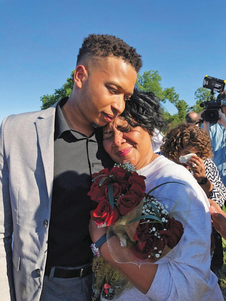 Johnson reunites with her grandson after 21 years | Courtesy Alice Marie Johnson