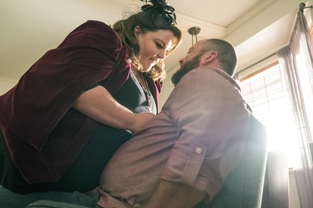 <p>Chrissy Metz as Kate Pearson and Chris Sullivan as Toby Damon in NBC's <i>This Is Us</i>.<br />(Photo: Ron Batzdorff/NBC) </p>