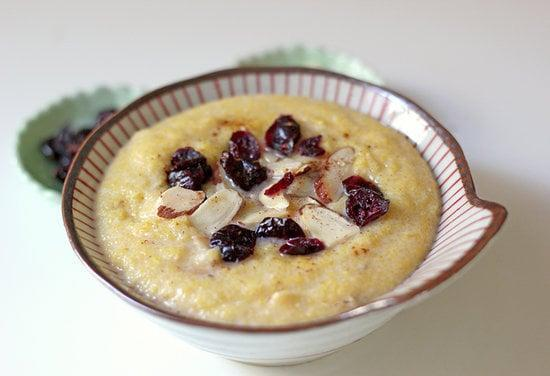 """<p>This polenta bowl is the perfect breakfast for after your morning run. It will warm you up and only takes about 10 minutes to make, plus it has all the protein and carbs to give you a full recovery.</p> <p><strong>Protein:</strong> 17 grams</p> <p><strong>Get the recipe:</strong> <a href=""""https://www.popsugar.com/fitness/Gluten-Free-Polenta-Breakfast-Recipe-32298640"""" class=""""link rapid-noclick-resp"""" rel=""""nofollow noopener"""" target=""""_blank"""" data-ylk=""""slk:breakfast polenta"""">breakfast polenta</a></p>"""