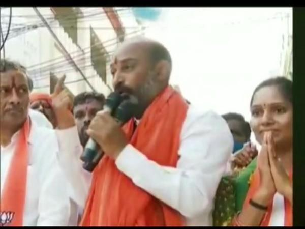 Bandi Sanjay, Telangana State Bharatiya Janata Party (BJP) president speaking on Tuesday.