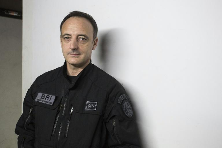Christophe Molmy is head of the BRI police unit that stormed the Bataclan and prevented further loss of life (AFP/GEOFFROY VAN DER HASSELT)