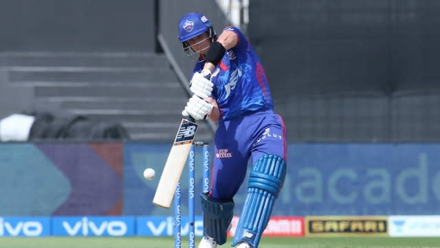 Steve Smith of Delhi Capitals bats during match 41 of the Vivo Indian Premier League between the KOLKATA KNIGHT RIDERS and the DELHI CAPITALS held at the Sharjah Cricket Stadium, Sharjah in the United Arab Emirates on the 28th September 2021 Photo by Deepak Malik / Sportzpics for IPL