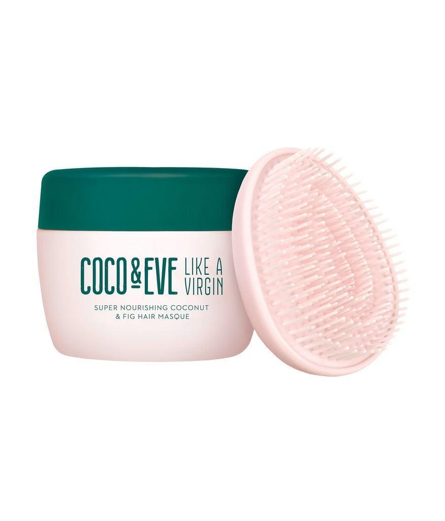 """<p>The <span>Coco &amp; Eve Like a Virgin Super Nourishing Coconut &amp; Fig Hair Masque</span> ($50) is perhaps one of the most <a href=""""https://www.popsugar.com/beauty/Coco-Eve-Hair-Mask-44700771"""" class=""""link rapid-noclick-resp"""" rel=""""nofollow noopener"""" target=""""_blank"""" data-ylk=""""slk:hyped hair masks of all time"""">hyped hair masks of all time</a>. """"Frankly, I am super skeptical about anything with such a strong Instagram presence, but after 20 minutes of this mask wrapped around my 4A curls, I was surprised at how luscious, soft, and shiny they were,"""" said Kia. """"Formulation-wise, coconut is always a winner for Afro hair because it deeply penetrates the hair follicles, but fig is definitely a new player among Afro hair ingredients. Fig is meant to increase blood circulation on the scalp, which results in faster hair growth.""""</p>"""