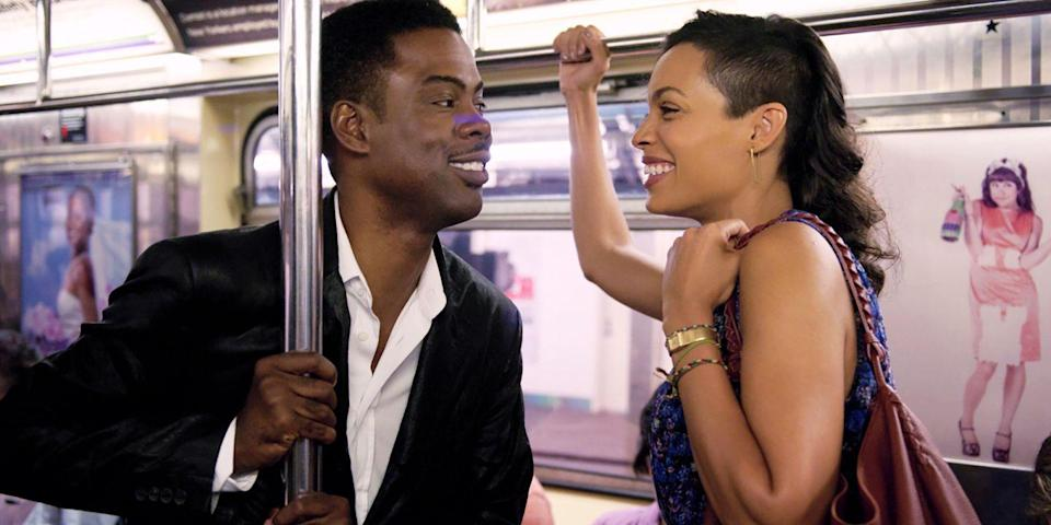 "<p>Similar to the <em>Before</em> films, Chris Rock's comedic romance is a charming walk-and-talk mostly featuring only its two leads: Rock himself and Rosario Dawson. He plays a comedian trying his hand at serious acting; she's the <em>New York Times</em> reporter who spends the day interviewing him. As much an ode to NYC as it is a modern take on the Cinderella fairy tale, <em>Top Five</em> might just be worthy of your top five. <a class=""link rapid-noclick-resp"" href=""https://www.amazon.com/Top-Five-Chris-Rock/dp/B00QWUJRHE/?tag=syn-yahoo-20&ascsubtag=%5Bartid%7C10056.g.6498%5Bsrc%7Cyahoo-us"" rel=""nofollow noopener"" target=""_blank"" data-ylk=""slk:Watch Now"">Watch Now</a></p>"