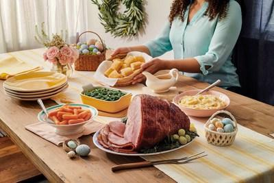 Bring home a complete holiday meal with Cracker Barrel's Easter Heat n' Serve Feast or Family Dinner, featuring a traditional spiral-sliced sugar-cured ham that goes from oven to table in around three hours. Order yours today at crackerbarrel.com.