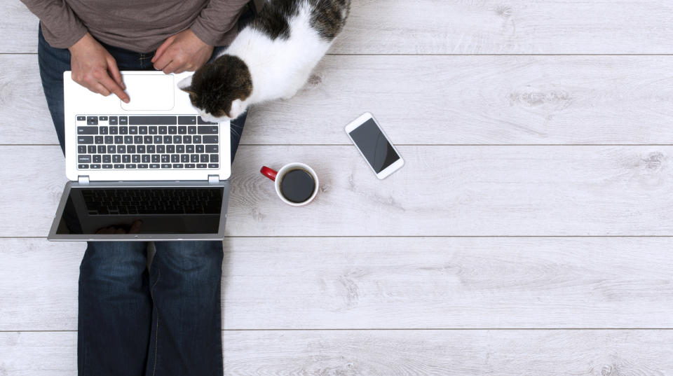 Pets are proving to be he perfect WFH colleagues during coronavirus lockdown. (Getty Images)