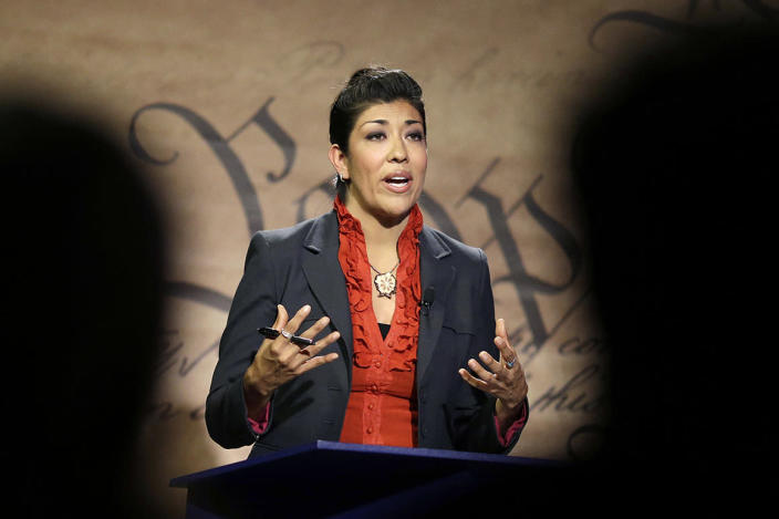 Nevada state Democratic Assemblywoman Lucy Flores accused Joe Biden of inappropriately kissing her on the back of the head in 2014.