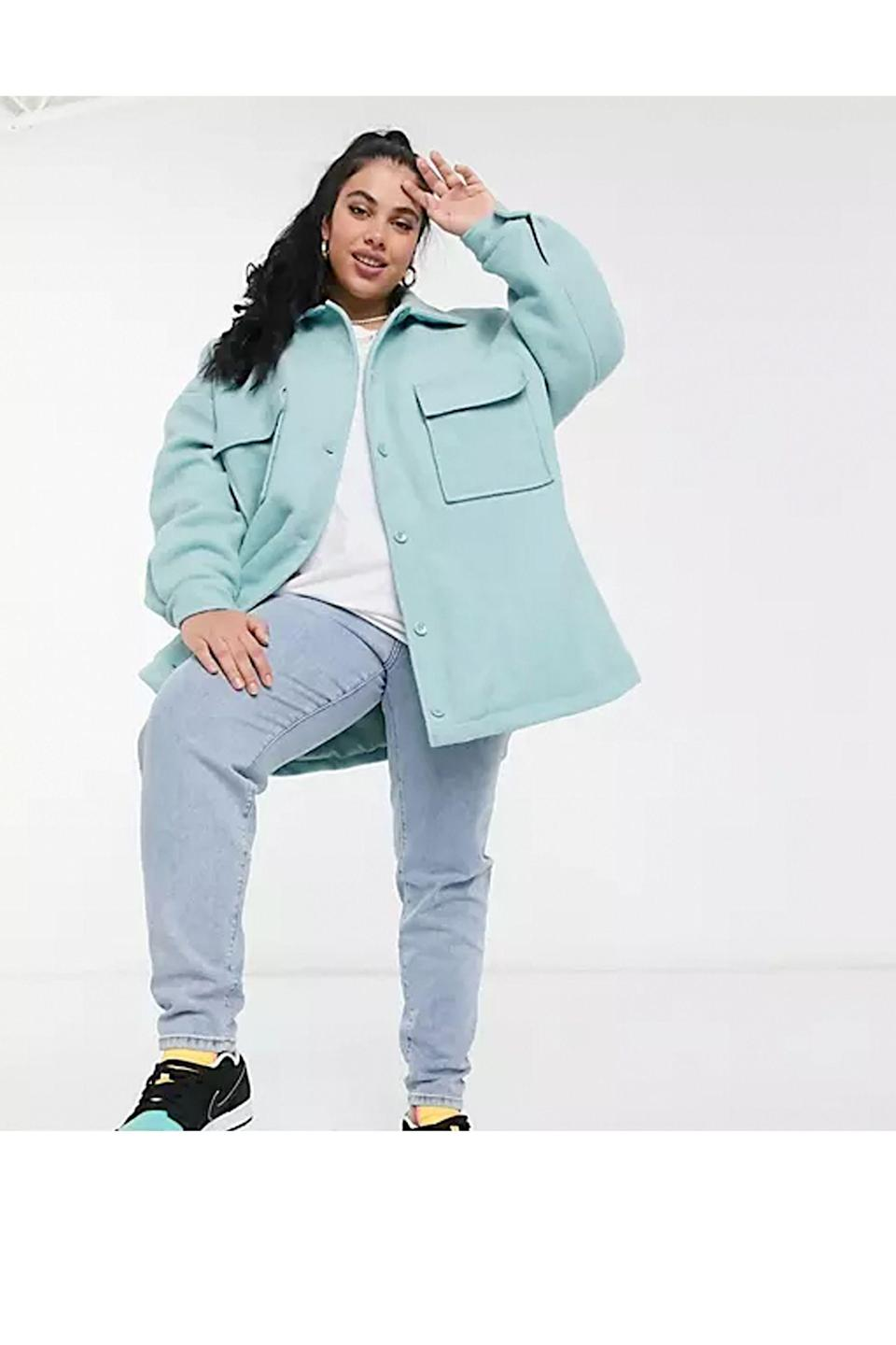 """<p><strong>Collusion</strong></p><p>us.asos.com</p><p><strong>$56.00</strong></p><p><a href=""""https://go.redirectingat.com?id=74968X1596630&url=https%3A%2F%2Fwww.asos.com%2Fus%2Fcollusion%2Fcollusion-plus-exclusive-color-faux-wool-shacket-in-blue%2Fprd%2F21865640&sref=https%3A%2F%2Fwww.cosmopolitan.com%2Fstyle-beauty%2Ffashion%2Fg36232237%2Fbest-shackets%2F"""" rel=""""nofollow noopener"""" target=""""_blank"""" data-ylk=""""slk:Shop Now"""" class=""""link rapid-noclick-resp"""">Shop Now</a></p><p>Bright and fresh, this sky blue hue is just too pretty to pass up. </p>"""