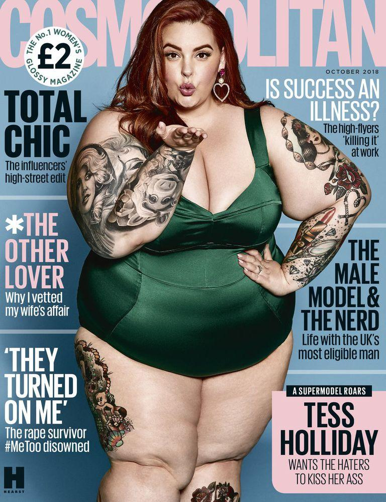 Tess Holliday starred on the cover of the October 2018 edition of UK Cosmopolitan. [Photo: Cosmopolitan]