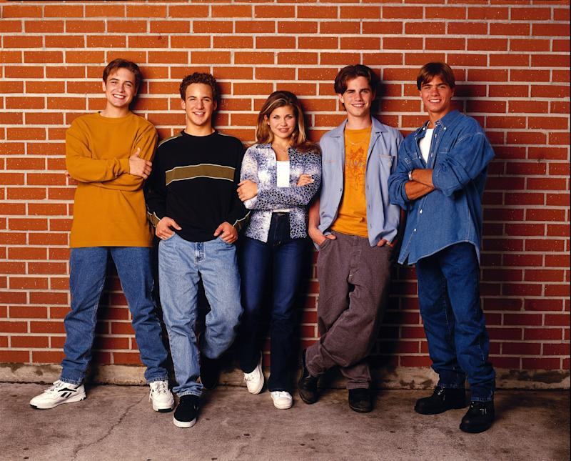 BOY MEETS WORLD - Gallery - Shoot Date: September 1, 1998. (Photo by Walt Disney Television via Getty Images Photo Archives/Walt Disney Television via Getty Images) L-R: WILL FRIEDLE;BEN SAVAGE;DANIELLE FISHEL;RIDER STRONG;MATTHEW LAWRENCE