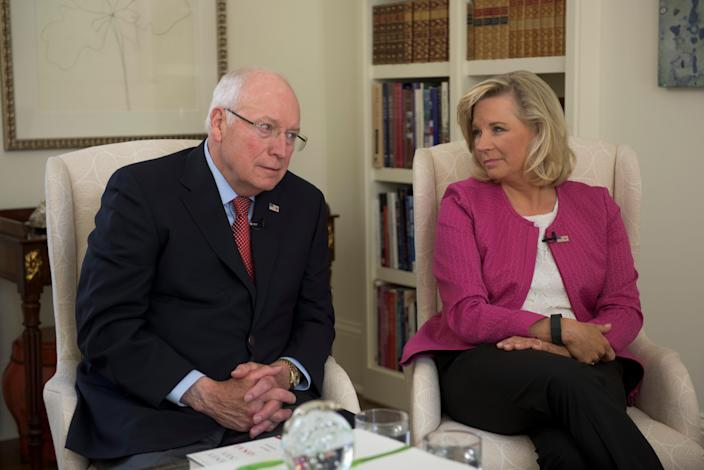 Former Vice-President of the United States Dick Cheney and his daughter, Liz Cheney take part in a USA TODAY interview.