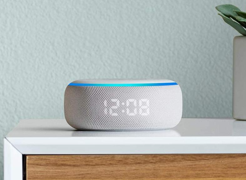 Get the Echo Dot with Clock for 42 percent off. (Photo: Amazon)