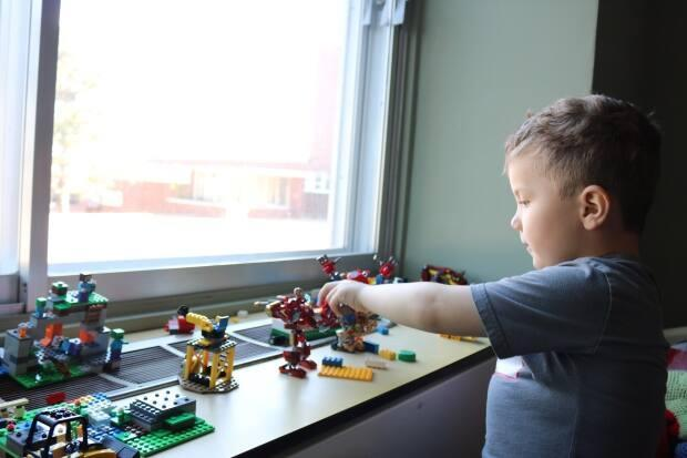 Nathan spent countless hours playing with Lego during his convalescence. It also helped keep him distracted while he was undergoing leech therapy on his thumb.