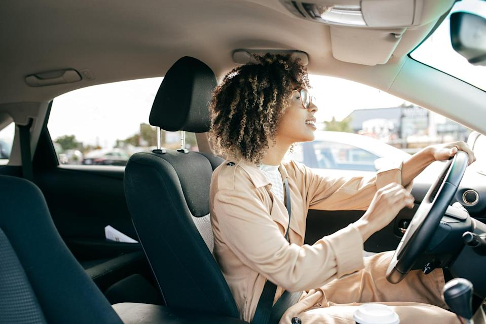 <p>Keep the good energy going by making a happy playlist, grabbing a coffee, or listening to your favorite radio station on the way to work.</p>