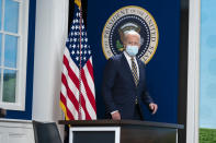 President Joe Biden arrives to deliver remarks to the Major Economies Forum on Energy and Climate, in the South Court Auditorium on the White House campus, Friday, Sept. 17, 2021, in Washington. (AP Photo/Evan Vucci)