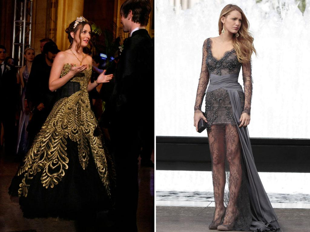 "<b>BEST FASHION STATEMENT </b><b>(tie):</b><br><b>Blair's prom dress </b>(Season 2, Episode 24) <b>Serena's lace gown </b>in ""Juliet Doesn't Live Here Anymore"" (Season 4, Episode 8)<br><br>For two best friends who are New York trendsetters, Blair and Serena couldn't have had more different styles. Blair always went for a preppy, princess look (even before she was a real one), best shown by her choice of an intricate ball gown to wear to prom. Serena rocked edgier ensembles, like this sheer, lacy, draped number by Zuhair Murad."