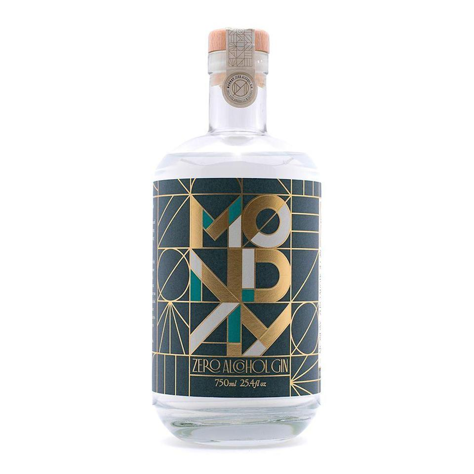 """<p><strong>Monday Gin</strong></p><p>drinkmonday.co</p><p><strong>$39.99</strong></p><p><a href=""""https://drinkmonday.co/products/monday-gin"""" rel=""""nofollow noopener"""" target=""""_blank"""" data-ylk=""""slk:Shop Now"""" class=""""link rapid-noclick-resp"""">Shop Now</a></p><p>This spicy, botanical, nonalcoholic spirit tastes and smells almost <em>shockingly</em> similar to a traditional London dry gin. The first time I popped open this bottle, I was truly baffled by how much it smells like the real stuff, and a taste test yielded similar results. </p><p>I recommend serving this on the rocks with a hefty splash of your favorite seltzer and a fresh squeeze of lime. It doesn't replace a G&T — but it will make you wonder: Why add alcohol to the equation in the first place?</p><p><strong>More: </strong><a href=""""https://www.bestproducts.com/eats/drinks/a35155505/monday-gin-review/"""" rel=""""nofollow noopener"""" target=""""_blank"""" data-ylk=""""slk:Our Full Review of Glorious Monday Gin"""" class=""""link rapid-noclick-resp"""">Our Full Review of Glorious Monday Gin</a></p>"""