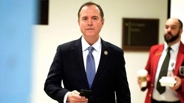 PHOTO:Chairman of the House Intelligence Committee Adam Schiff arrives on Capitol Hill in Washington, Feb 28, 2019. (Joshua Roberts/Reuters, FILE)