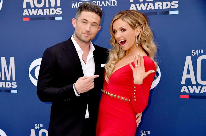 Carly Pearce, Michael Ray at 54th Academy Of Country Music Awards (Jeff Kravitz / FilmMagic)