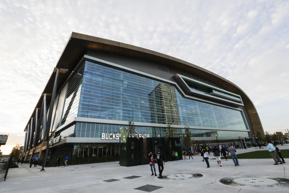 Fiserv Forum, home of the Milwaukee Bucks, is considered one of the best arenas in the NBA. (AP)