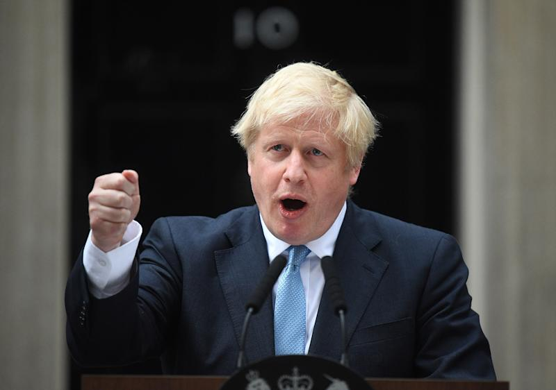 Prime Minister Boris Johnson speaking outside his official residence in London's Downing Street. (PA)