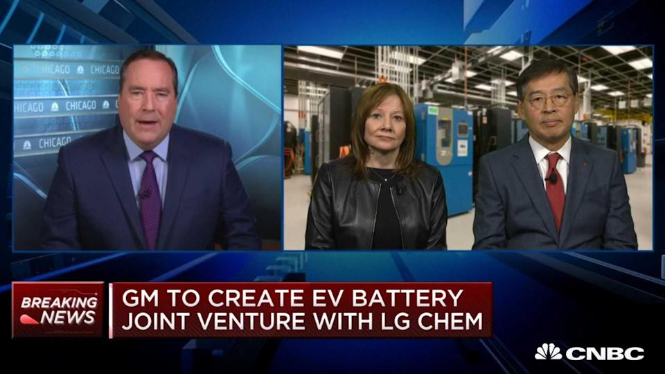 CNBC's full interview with GM CEO Mary Barra and LG Chem's Shin