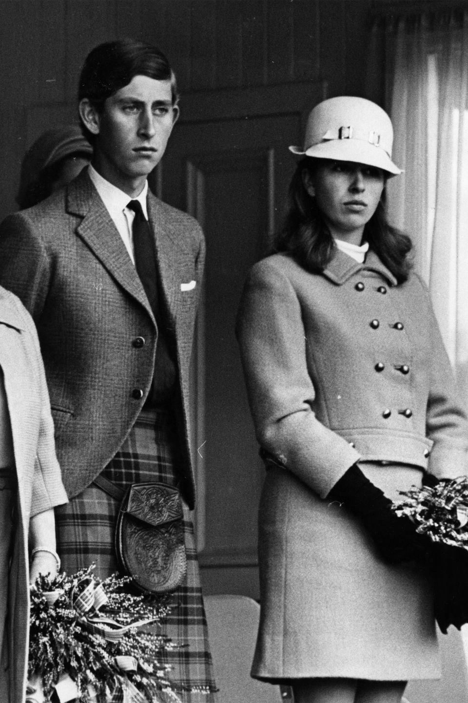 <p>Prince Charles and Princess Anne watching the annual games at the Braemar Royal Highland gathering.</p>