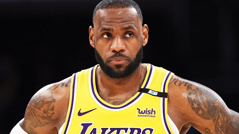 LeBron James, pictured here in action for the Los Angeles Lakers against the Golden State Warriors.