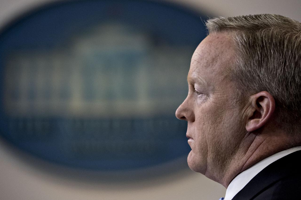 """<p><span>Playing White House press secretary to Donald Trump's presidency would have been a tough job for anybody. <strong><a rel=""""nofollow"""" href=""""https://uk.news.yahoo.com/sean-spicer-donald-trumps-combative-174145626.html"""">Sean Spicer ploughed on for six months</a></strong>, defending the President to the hilt, before resigning from the post in July. Spicer walked out followed the <strong><a rel=""""nofollow"""" href=""""https://uk.news.yahoo.com/donald-trump-apos-communications-director-130015552.html"""">appointment of Anthony Scaramucci </a></strong>– a banker and TV personality with no media relations experience – as White House communications director. Spicer may well have kicked himself over his decision to jump ship, as his new boss was fired just 10 days into the job.</span> </p>"""