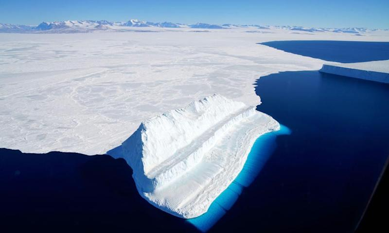 An iceberg floating in Antarctica's McMurdo Sound.